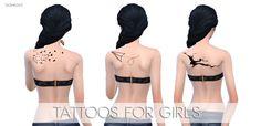 Tattoos for girls at Sashas93 via Sims 4 Updates