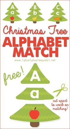Christmas Tree Letter and Sound Match Printables - Trading Stocks - Ideas of Trading Stocks - Christmas Tree ABC Match Work on matching upper and lowercase letters as well as beginning sounds with these A to Z Christmas printables {FREE! Christmas Activities For Kids, Preschool Christmas, Free Christmas Printables, Alphabet Activities, Christmas Labels, Counting Activities, Upper And Lowercase Letters, Lower Case Letters, Christmas Alphabet