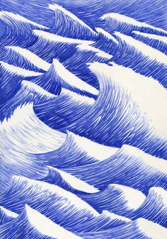 Waves. Ballpoint Biro Pen Drawings. To see more art and information about Kevin Lucbert click the image.