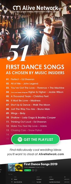Wedding Slow Dance Songs, Unique First Dance Songs, First Dance Lyrics, Best Wedding Songs, Wedding First Dance, Wedding Playlist, Wedding Music, Wedding Band, Party Music Playlist