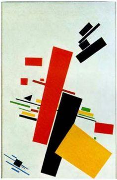 Suprematisme •Hoekig •Geometrische vormen •Regelmatig kleurgebruik