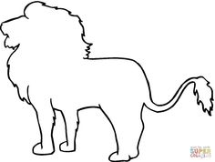 Awesome Animal Outline Coloring Page that you must know, You?re in good company if you?re looking for Animal Outline Coloring Page Easy Pictures To Draw, Lion Pictures, Simple Pictures, Easy Animal Drawings, Cute Easy Drawings, Animal Sketches, Lion Coloring Pages, Family Coloring Pages, Outline Images