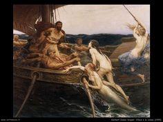 i Herbert James Draper...Ulysses and the sirens