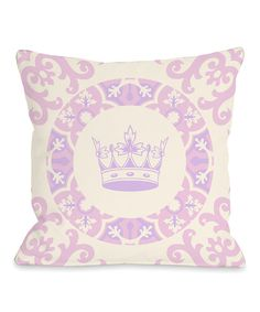 Look at this Pink & Purple Adrianna's Crown Throw Pillow on #zulily today!