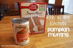 Kids in the Kitchen: 2 Ingredient Pumpkin Muffins