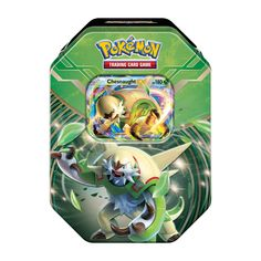 Pokémon TCG: Kalos Power Tin with the heavily armored Chesnaught-EX as a special foil card, plus 4 Pokémon TCG booster packs and more.