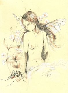 Female Drawing, Female Art, Woodland Creatures, Fantasy Creatures, Elf Art, Fairy Drawings, Comic Drawing, Fairy Art, Gravure