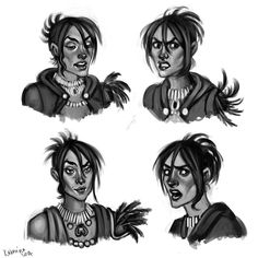 Morrigan - expressions by kokomiko