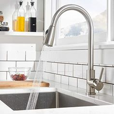Hot Kitchen Sink Faucet Pull Down Sprayer with 10 Inch Cover Mixer Tap for Home . Hot Kitchen Sink Faucet Pull Down Sprayer with 10 Inch Cover Mixer Tap for Home Brushed Nickel Kitchen Faucet, Kitchen Faucets Pull Down, Best Kitchen Faucets, Steel Kitchen Sink, Kitchen Fixtures, Kitchen Handles, Faucets For Farmhouse Sinks, Stainless Steel Kitchen Faucet, Home Design