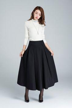 faldas Maxi falda falda de invierno para las mujeres falda