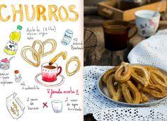 churros caseros con chocolate españoles rapidos sencillos