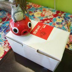campanello Totoro con pesce rossa,ufficiale studio ghibli,miyazaki,manga anime