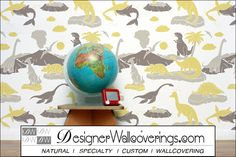 Prehistoric - Dinosaurs and Shark  [FUN-49142] Just Fun Vol. 1 | DesignerWallcoverings.com ™ - Your One Stop Showroom for Custom, Natural, & Specialty Wallcoverings | Largest Selection of Wall Papers | World Wide Showroom | Wallpaper Printers