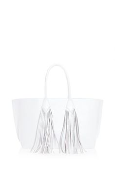 Sara Battaglia Shopper In White by Sara Battaglia for Preorder on Moda Operandi