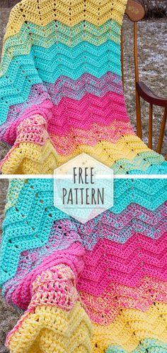 Ideas Crochet Afghan Patterns Free Baby Yarns For 2019 Crochet Stitches Patterns, Afghan Crochet Patterns, Crochet Afghans, Crochet Blankets, Crotchet Patterns, Crochet Gifts, Free Crochet, Irish Crochet, Crochet Baby