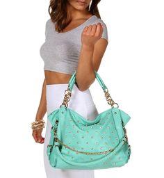 Mint Rhinestone Handbag by Windsor #GradGifts @Luvocracy
