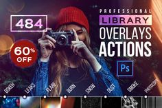 Photoshop ACTIONS Library Overlays by Creative Stuff on Creative Market