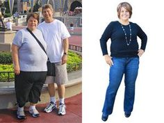 Find out what this woman did to get healthy for her husband and herself and lose 195 pounds! #weight #health