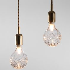 Lee Broom Crystal Bulb with brass fixture ....