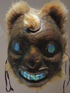 Sea Bear Mask    The Metropolitan Museum of Art, New York    Sea Bear Mask, Haida - Copper work: 19th century  British Columbia