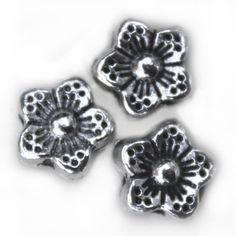 MB234 Ant. Silver Flower 8x8mm 20pcs