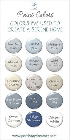 End of Summer Home Tour with PAINT COLORS! Create a serene and calming environment with these tried and true paint Farmhouse Paint Colors, Paint Colors For Home, Calming Paint Colors, Paint Colours, Farmhouse Decor, French Farmhouse, Hallway Paint Colors, Valspar Paint Colors, Furniture Paint Colors