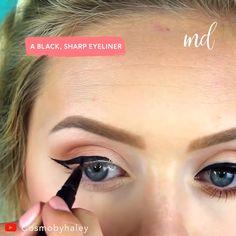 Summer Makeup This look is perfect for summer nights. Contour Makeup, Eyebrow Makeup, Skin Makeup, Eyeshadow Makeup, Beauty Makeup, Beauty Tips, Elf Makeup, Night Makeup, Full Makeup Tutorial