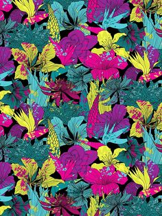 summernight / floral pattern