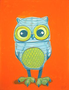 Owl Robot by Matt Q Spangler!    Love all his artwork! Check out his interview on http://blog.baremelon.com