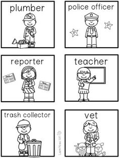 Are you teaching your students about community helpers? This product provides children with a variety of ways to learn about the jobs in their communities. It can be used during Career Day or to enhance your unit of study on communities. It includes picture / vocabulary cards (in color and b/w), writing activities (When I grow up..., If I were a..., and a Job Application), Can/Have/Are graphic organizers, 3-2-1 graphic organizers, and WOW words graphic organizers (with a list of adjectives).