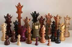 Wood, Wood and More Wood Dragon Chess, Chess Set Unique, Learn Something New Everyday, Chess Pieces, Mind Games, Wood Toys, Wood Turning, Wood Projects, Board Games