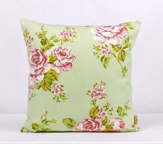 pillow, throw pillow cover, Decorative Throw pillow, English Rose, Sage G… – Famous Last Words Shabby Chic Throw Pillows, Old Pillows, Green Throw Pillows, Floral Pillows, Throw Pillow Cases, Cushion Covers, Pillow Covers, Disney Pillows, Clarke And Clarke Fabric