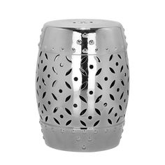 Ceramic stool Coin - Silver €150 47x33
