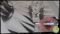 Illustration de Goldorak encré avec des Graph'it Liners format 29,7x42cm #marker #feutres #grendizer #graphitmarker #actarus #goldorak #goldrake #copic #promarker #anime #manga