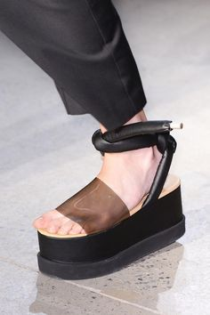 Maison Martin Margiela Spring / Summer 2015 // Platform Sandel from God basically.