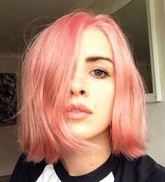 Rosé pink short hairstyle by tasher_spencer
