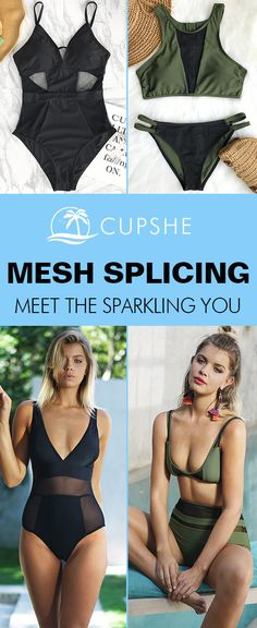 Spring Mesh Splicing Collection. Don't let go easily of every chance to meet the sparkling you! Glamorous & Comfy, definitely meet all your need, come and find the swimwear you've been looking for! FREE shipping! Check them out!