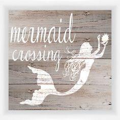 Mermaid Crossing Wall Art - 14x12 (STYLE 1-21770A) | Wall Decor Ideas | Darby Smart