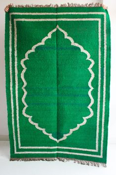 Floor Rug in Pretty Green 5 x 7 Feet by gypsya on Etsy // fantastic color