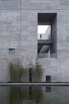 Image 38 of 38 from gallery of Shou County Culture and Art Center / Studio Zhu-Pei. Photograph by Studio Zhu-Pei Chinese Architecture, Landscape Architecture, Contemporary Architecture, Concrete Architecture, Studio, Rammed Earth Wall, Urban Fabric, Patio Interior, Museum