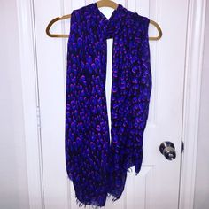 Louis Vuitton Inspired Leopard Scarf This gorgeous Purple & Pink inspired Scarf is identical to the Louis Vuitton Leopard Stole & at a fraction of the price! The texture is very similar and easy to style. This piece has one small snag on the bottom corner but is not noticeable to the eye. You will get tons of compliments rocking this one of a kind print! Accessories Scarves & Wraps