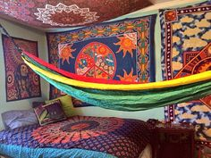 Trippycool bedroom psychedelic Boho Decor Pinterest