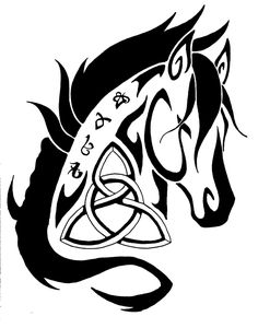 Celtic Horse - Commission by TheHellcow.deviantart.com on @deviantART