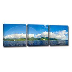 Ready2HangArt Away in Paradise Canvas Wall Art - Set of 3 - CDMPAN-GWC