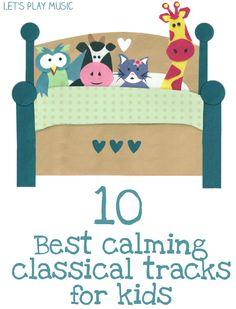 List of calming music tracks for children