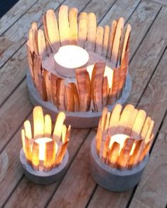 Beton Deko Objekte Windlicht mit Muscheln Verkauf auf Anfrage