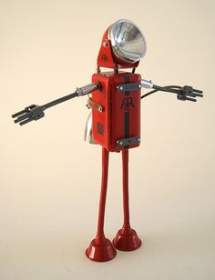 www.tupang.nl Diy Robot, Robot Art, Recycled Robot, Robots Characters, Electronic Appliances, Dumpster Diving, Second Hand Stores, Ways To Recycle, Junk Art
