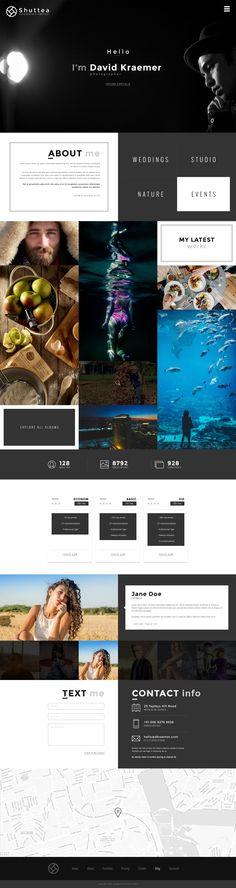 Дизайн персонального сайта для фотографа — Работа №8 — Портфолио фрилансера Артём Сёмкин (artkrsk) — Weblancer.net Web Design, Blog Design, Template Web, Page Web, Presentation Design, Book Art, Layout, Social Media, Explore