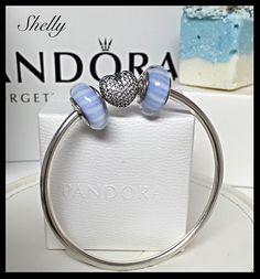 Blue Candy Stripe Muranos