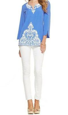 Lilly Pulitzer Resort '13- Charlotte Tunic in Iris Blue